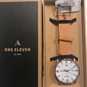 One Eleven Solar Watch with Tan Leather Strap